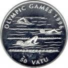 Vanuatu 50 Vatu 1994  Olympic Games 1996, Argint 31.47g/925, Aoc1 KM-24 UNC !!!