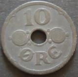 Moneda 10 ORE - DANEMARCA, anul 1942 *cod 1128 - OCUPATIE NAZISTA!, Europa, Zinc