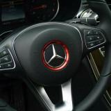 Inel ornament decor buton logo emblema volan Mercedes-Benz CLA, GLC, A, B, C, E