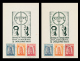 1957 Exil Romania, 2 Maxime Europa FDC comemorare legionari Mota si Marin dt+ndt