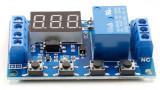 Releu temporizare temporizator timer 12V 24V microUSB 0.1-999min
