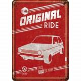 Placa metalica - VW Golf - The Original Ride - 10x14 cm