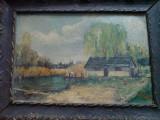 Ulei pe carton Snagov, Natura, Realism