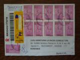 Plic circulat Istanbul-Bucuresti Recomandat plin de timbre (Europa 2005)