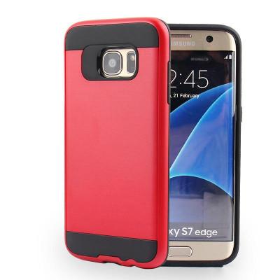 Husa Anti-shock Pro Plus Samsung S7 Edge Rosu foto