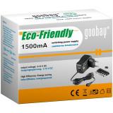 Cumpara ieftin Alimentator curent continuu Goobay, 3 V - 12 V, 1500 mA, 6 conectori