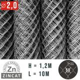 Cumpara ieftin PLASA IMPLETITA ZINCATA 1.2 X 10 M, DIAMETRU 2.0 MM