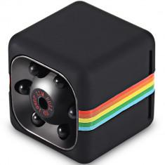 Mini Camera Spion iUni SQ11, Full HD 1080p, Audio Video, Night Vision, TV-Out, Black