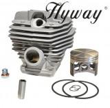 Cumpara ieftin Kit cilindru drujba Stihl MS 660, 064, 066 54mm Hyway (piston placat cu teflon)