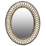 Oglinda Bloom, melamina, auriu, dimensiuni 76 x 61 x 5 cm