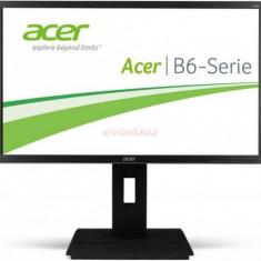 Monitor IPS LED Acer 23.8inch B246HYLAYMIDR, Full HD, HDMI, DVI, 6ms, DisplayPort, Boxe (Negru)