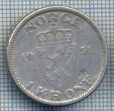 AX 409 MONEDA - NORVEGIA - 1 KRONE -ANUL 1951 -STAREA CARE SE VEDE, Europa