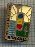 Y 813 INSIGNA -TABARA DE PIONIERI - ROMANIA - PENTRU COLECTIONARI