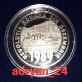 """Moneda 50 bani BNR - 30 de ani de la Revolutia din decembrie """"89 / in capsula"""