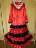 Costum carnaval serbare rochie dans flamenco pentru copii de 11-12-13-14 ani, 10-11 ani, Din imagine
