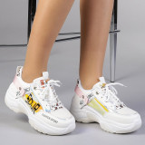 Pantofi sport dama Rodica alb cu roz, 36 - 41