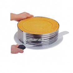 Inel Feliator Blat de Tort Ajustabil Cake Ring 8.5cm 26-28cm M