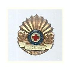 Insigna Evidentiat Crucea Rosie RSR