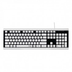 Tastatura cu fir Hama Covo, rezistenta la apa, picioare cauciuc, Alb/Negru