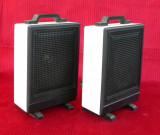 Set 2 Boxe audio 5W / 4 Ohmi cu cabluri, vintage anii 90 functionale