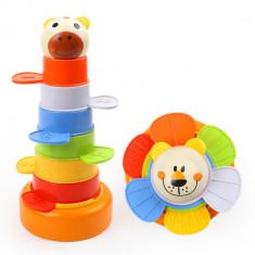Joc de indemanare - Piramida cu animalute PlayLearn Toys