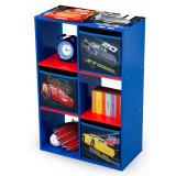 Organizator cu cadru din lemn pentru carti si jucarii Cars Cube