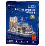 Cumpara ieftin Puzzle 3D Led - Notre Dame, 149 piese, CubicFun