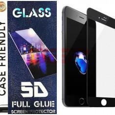 Geam protectie display sticla 5d full glue huawei y6 2019 black