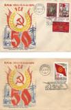 România, Expoziţia filatelică 50 ani P.C.R., plicuri, Botoşani, 1971