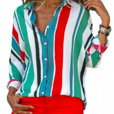 Y367-43 Camasa colorata si vaporoasa in dungi