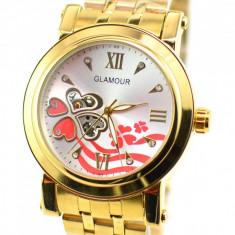 Ceas dama elegant Glamour Automatic GOLD G19GLD