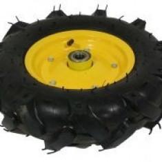 Roata roaba - TT - ax 20mm - rulment - crampoane - 4.00-8 4PR