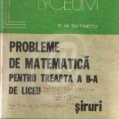 Probleme de matematica pentru treapta a II-a de liceu. Siruri