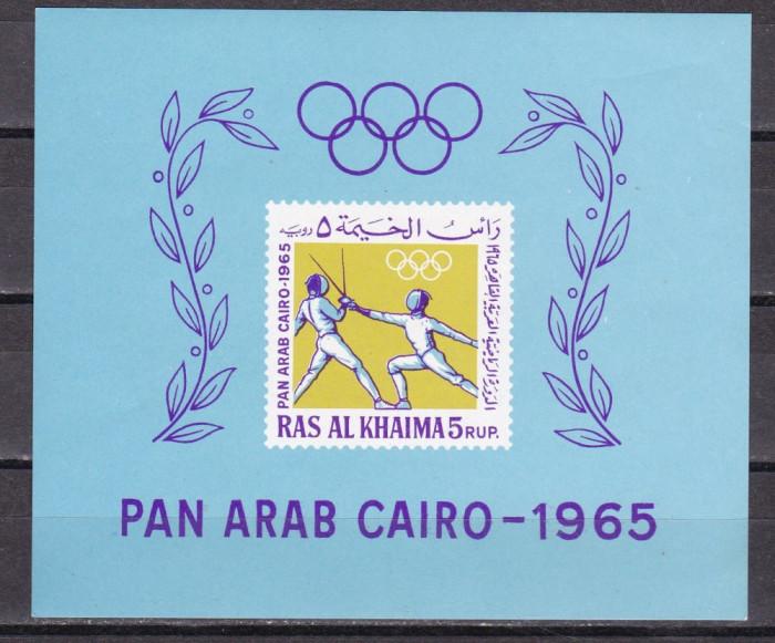 Ras al Khaima  1965  sport  Bl.8   MNH  w62