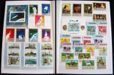 Clasor 300 timbre straine nestampilate + 12 colite + 1 bloc, serii complete MNH