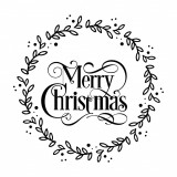 """Cumpara ieftin Sticker Autocolant Decorativ """"Merry Christmas"""", 48×48 cm, Alb, Oracal"""