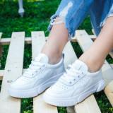 Pantofi sport dama albi Dobisia