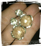 cercei  argint 925  cu ametiste mari naturale verde stralucitor !!