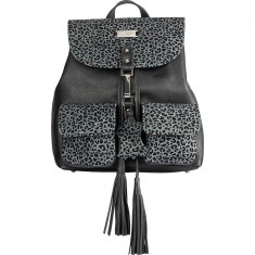 Dark Grey Animal Print Limited Edition Leather Backpack