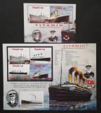 NIUAFO'OU- Dezastrul Titanic,1 M/Sh.+1 S/Sh.Neobliterat-T 39