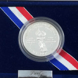 50 centi 1/2 Dollar 1993 W Bill of Rights James Madison Proof moneda argint
