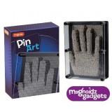 Tablou Pin Art Keycraft, 2000 de pini metalici, imagine 3D, 18 cm, 8 ani+