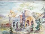 Cumpara ieftin Tablou, acuarelă pe hârtie lipită pe carton, Dobrogea, 45x31, nesemnat