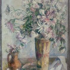 Vaze cu flori, natura statica// ulei pe carton subtire