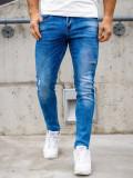 Blugi bleumarin bărbati skinny fit Bolf KX388