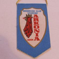Fanion (vechi) fotbal - Arkonia Szczecin (Polonia) dimensiuni f. mici