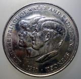 7.819 MAREA BRITANIE ANGLIA 25 NEW PENCE 1981 PRINCE CHARLES LADY DIANA, Europa, Cupru-Nichel
