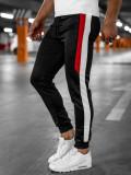 Pantaloni de trening joggers negri Bolf HL8985