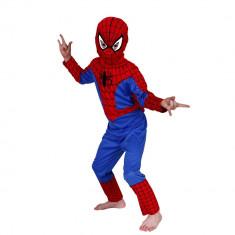Costum Spiderman copii, M, 110-120 cm, pentru 5 - 7 ani