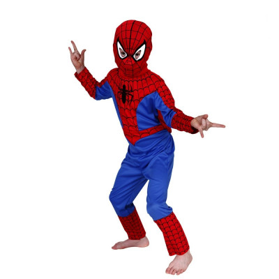 Costum Spiderman copii, L, 120-130 cm, pentru 7 - 9 ani foto